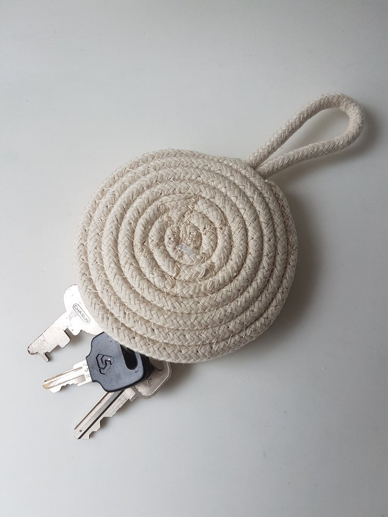 Cotton Rope Key Chain / Key Bag