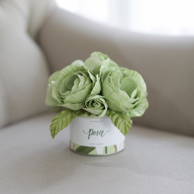 Lemon Green Queen Rose - Aromatic Small Gift Box
