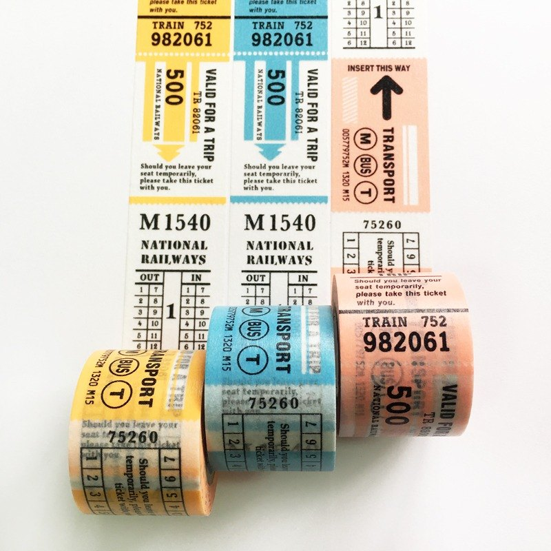 maste Masking Tape Trip Tip - Vintage Ticket【3 colors / set】