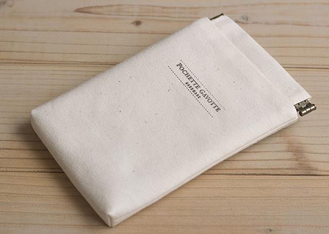 Fabric iphone case, Android cases, camera bag, cosmetic pouch, detachable leather strap / Natural cotton canvas