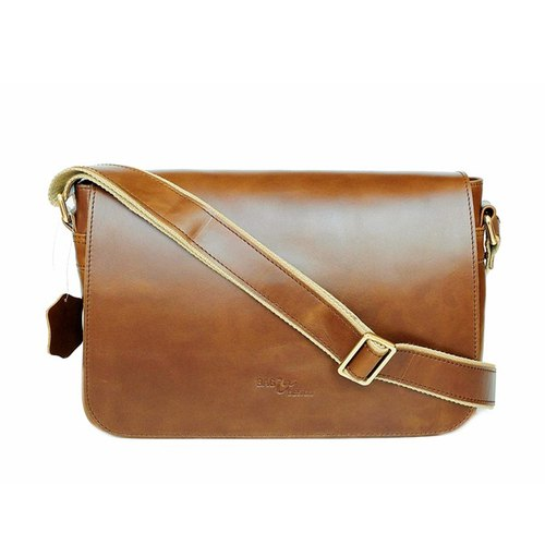 Men Satchel Bag Genuine pull UP