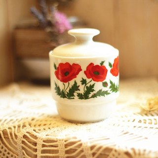 【Good day fetus】 German BAREUTHER brand vintage flower porcelain cover warm cup