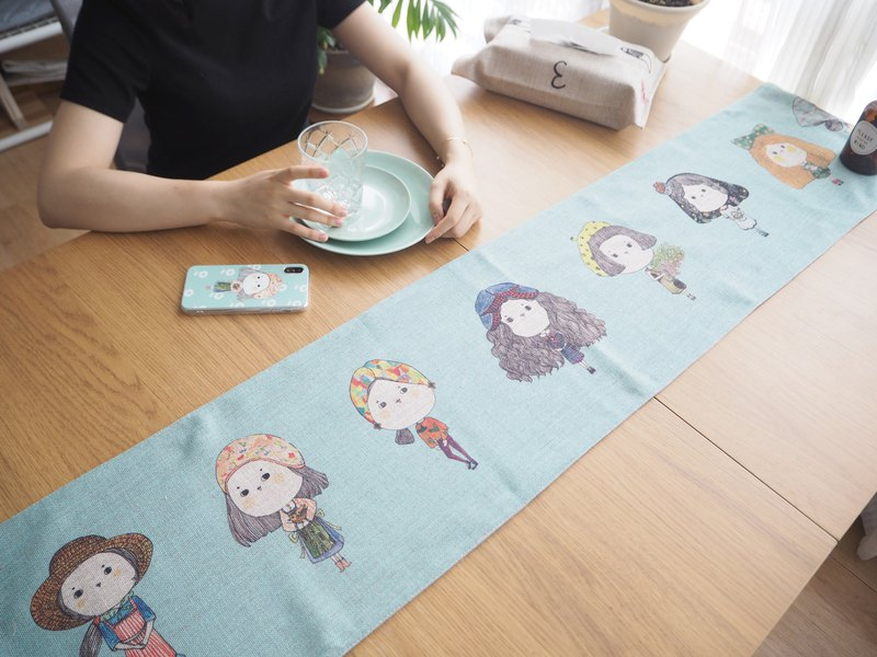 Cute you table table flag tablecloth TV cabinet shoe cabinet coffee table cloth cover cloth American dust decoration