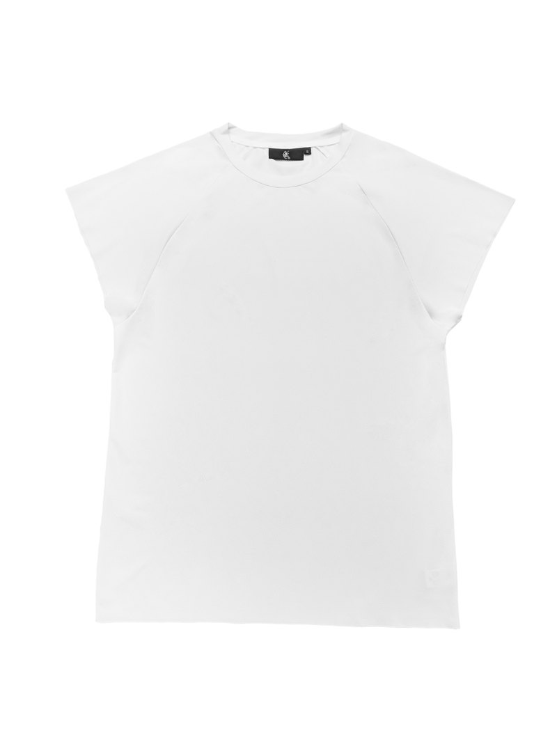 Real physical function short sleeve two-point sleeve white