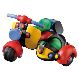 Micomic German exquisite craft toy - classic side seat motorcycle