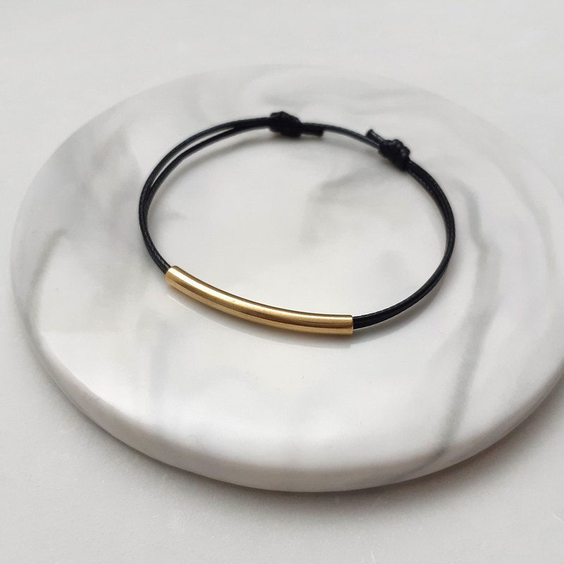 Wax line bracelet brass elbow wax rope thin line