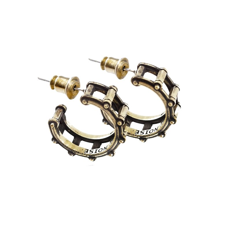 Drum earrings