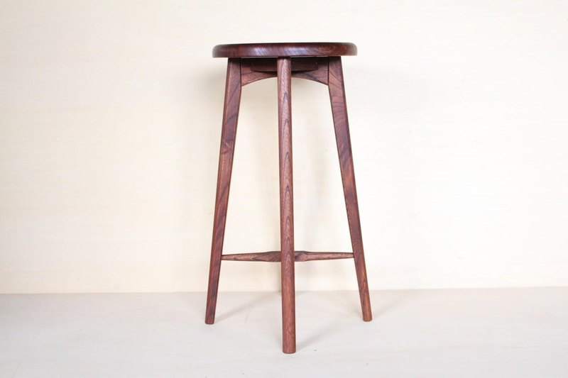 Kitchen stool A · zelkova material persimmon antique finish