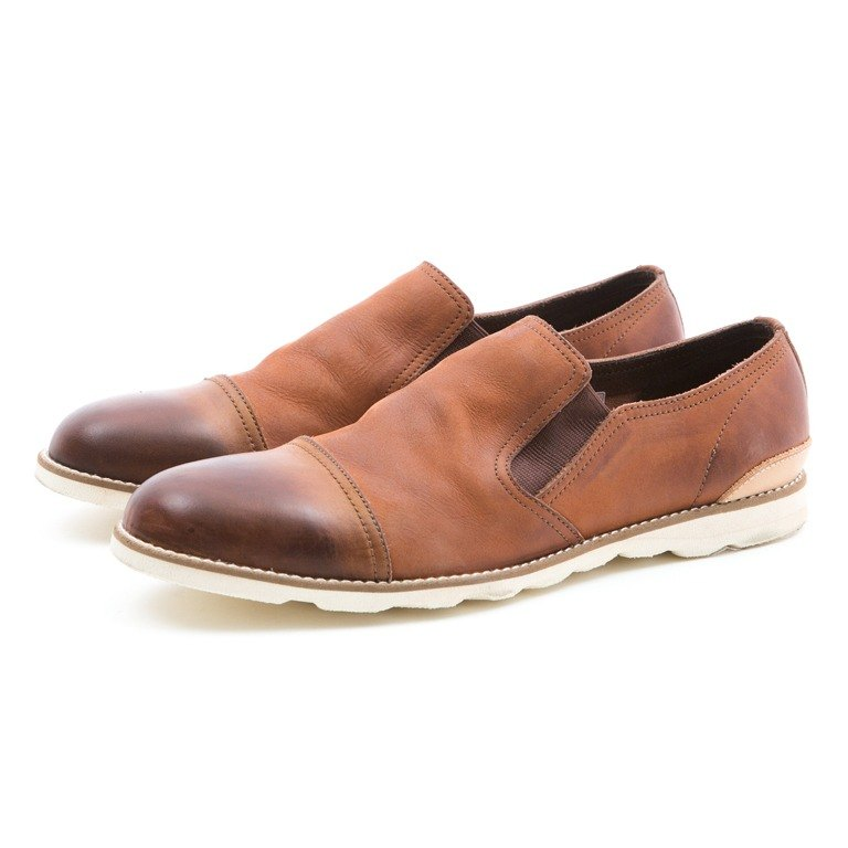 ARGIS Japanese handmade cowhide Slip-On lazy shoes  31104咖啡-Japan handmade  - Designer ARGIS Japan Handmade Leather Shoes  f08f1087508