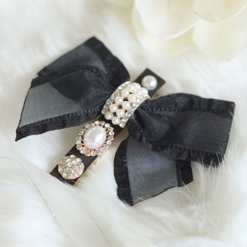 Lovely Chiffon Ribbon Hair Clip
