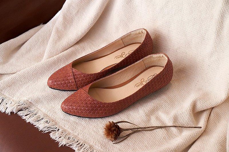 慢四步製作所尖頭鞋-碳焙咖