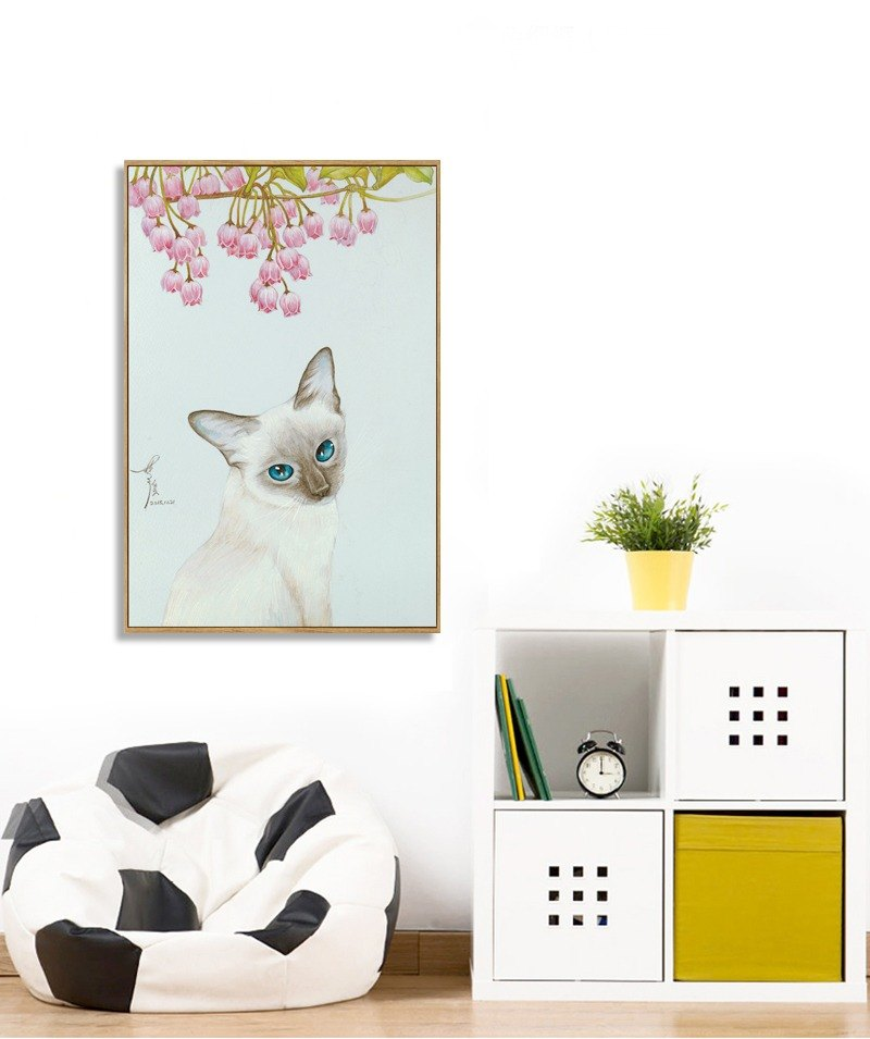 Dissimilar custom home decoration painting - cat