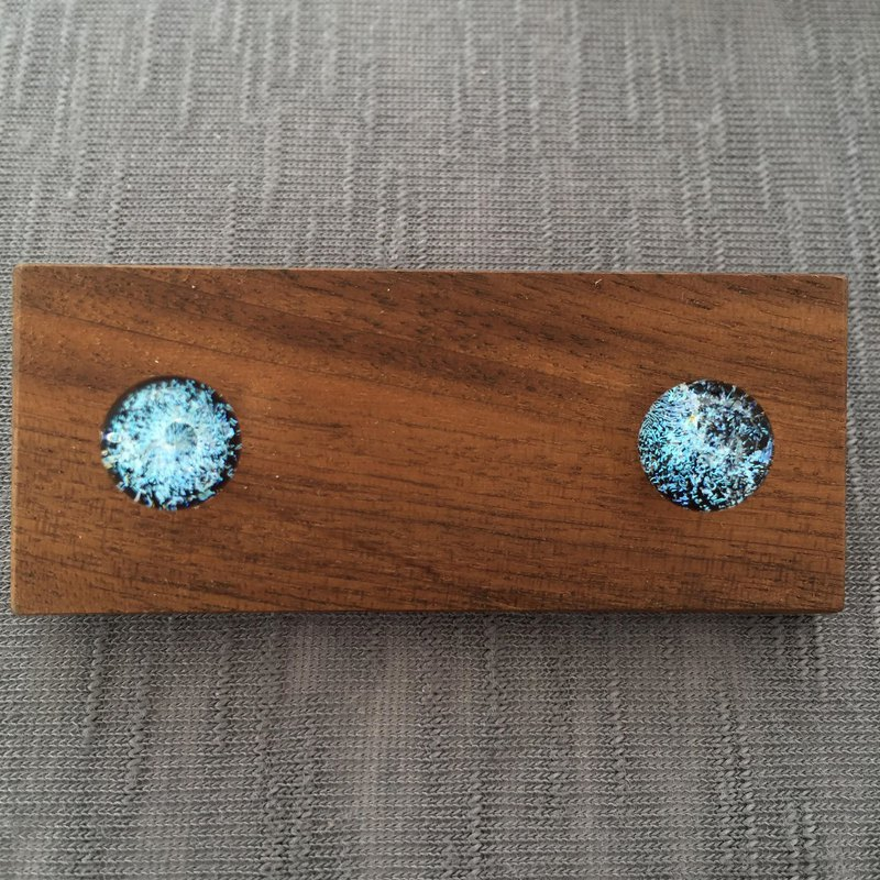 Handmade glass marble earring with 925 sterling / clip on earrings