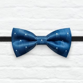 Style 0099 Royal Blue Mini Dots pattern Bowtie -  Wedding Bowtie