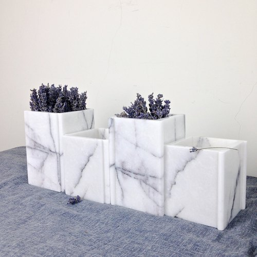 【New York lavender】 marble flower home decoration