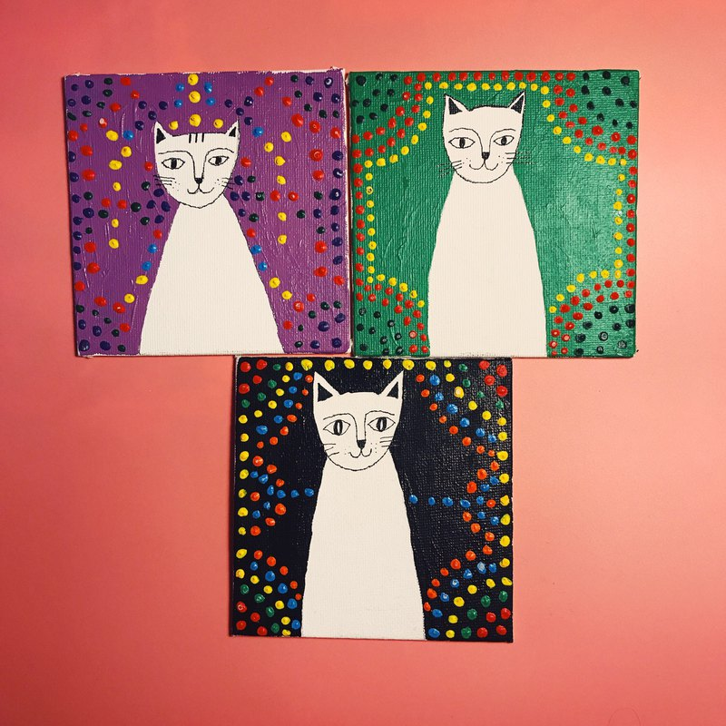 Hand-painted decorative painting cat illustrations - Cat Portrait Museum 3 / sets