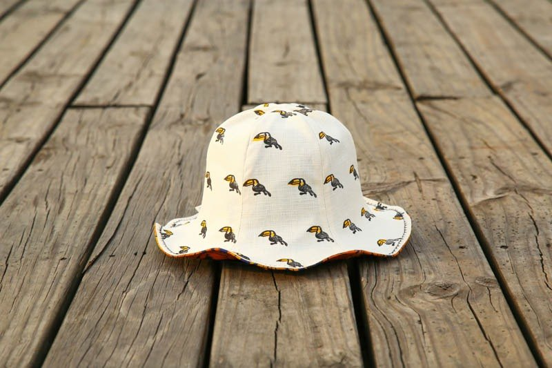 [Tropical jungle series - Toucan] double-faced flower fisherman hat