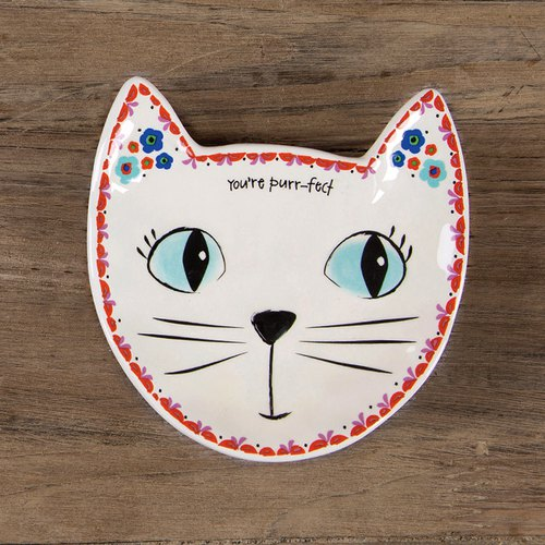 Cat shape jewelry dish / snack plate ∣ PDSH087