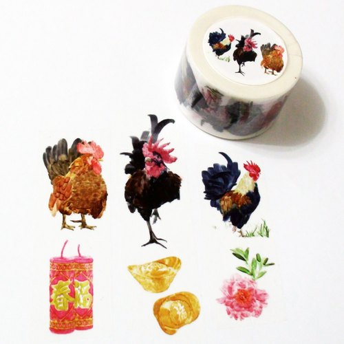 Masking Tape Roosters Bring Gold