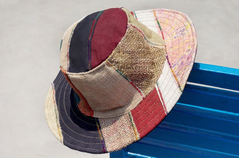 Christmas gift ethnic mosaic of hand-woven cotton hat / knitted hat / hat / visor - Desert Road Trip watercolor hand-woven cotton (limit one)