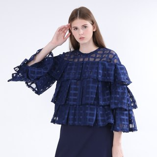 ZIZTAR Completely Ruffle Top