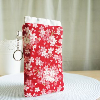 Lovely red cherry mobile phone bag, pencil case, glasses bag, mobile phone bag, 5.5-inch mobile phone available E