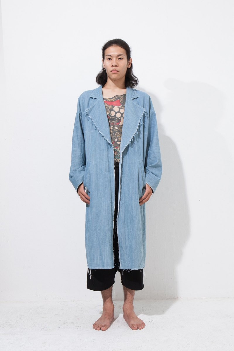 Alan Hu 2016 AW Denim Long Coat