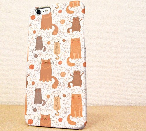 Free Shipping ☆ iPhone case GALAXY case ☆ seamless pattern phone case of wool and a cat