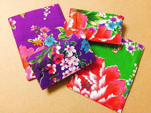 │ Hakka fabric, card holder │ purple / green apple green