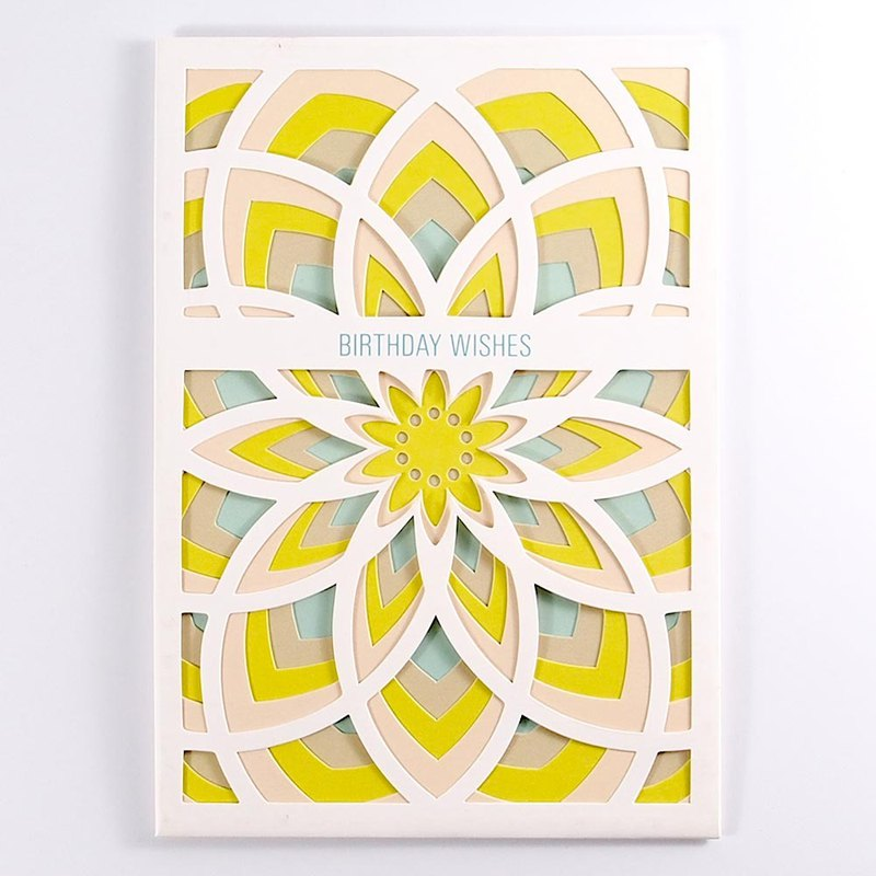Pink Blue Yellow Geometric Sun Flower [Up With Paper Luxe]