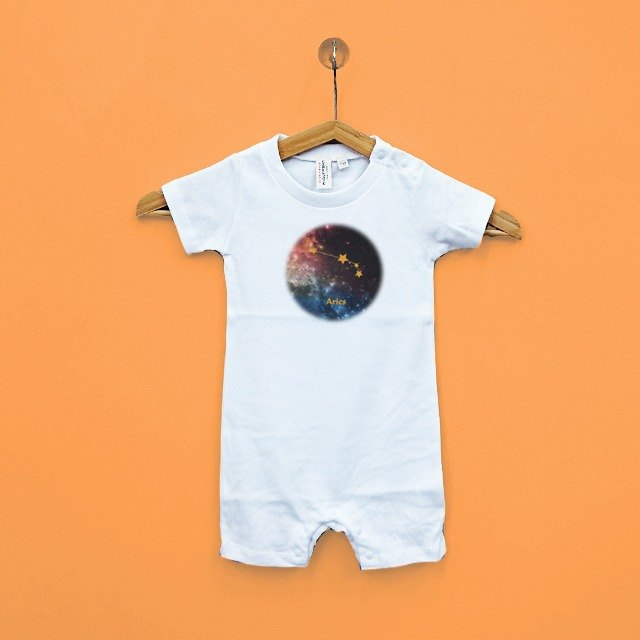 Aries baby paternity baby Japan United Athle cotton soft sense of short-sleeved package fart clothing