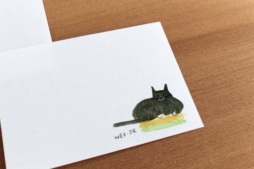 Meow daily small card I lie