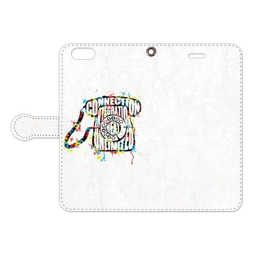 [Notebook type iPhone case] Telephone