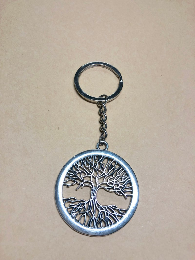 Tree of Life, Rich Tree Charm, Key Ring, Birthday Gift, Tibetan Silver, Sacred Geometry