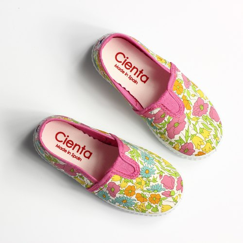 Spanish nationals canvas shoes CIENTA 54076 12 pink children, children size