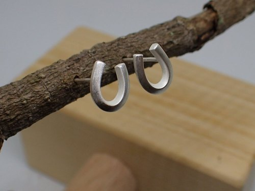 Lightup workshop - horseshoe earrings, 999-Fine Silver