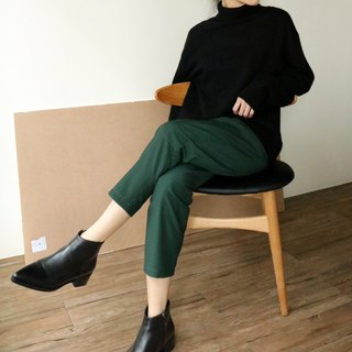 Jun Trousers Forest green nine tube pants (can be customized other sizes)