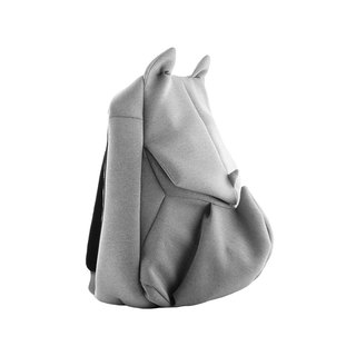 ORIBAGU Origami Bag_Grey Rhinoceros Backpack (Small)