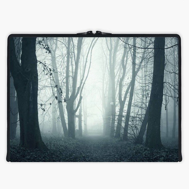 Axis - Custom 3-Sided Zipper Laptop Sleeve - forest