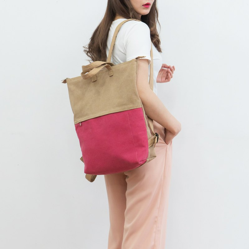 Handmade pink Womens Backpacks Laptop