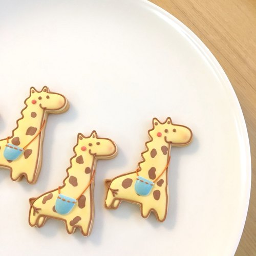Giraffe outing icing cookies 5 tablets