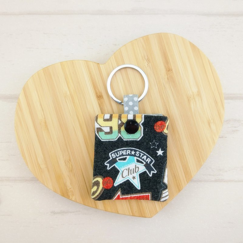 Personality black superstar. GOGORO induction key protection bag storage bag dust bag key ring
