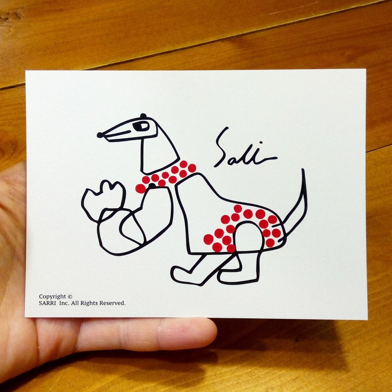 Skinny dinosaur (A3 size poster can be made) Birthday Card Design Coloring Illustrator Picture Card Universal Card Art Love Special Funny Strange Character Strange Cute Taiwan Playable