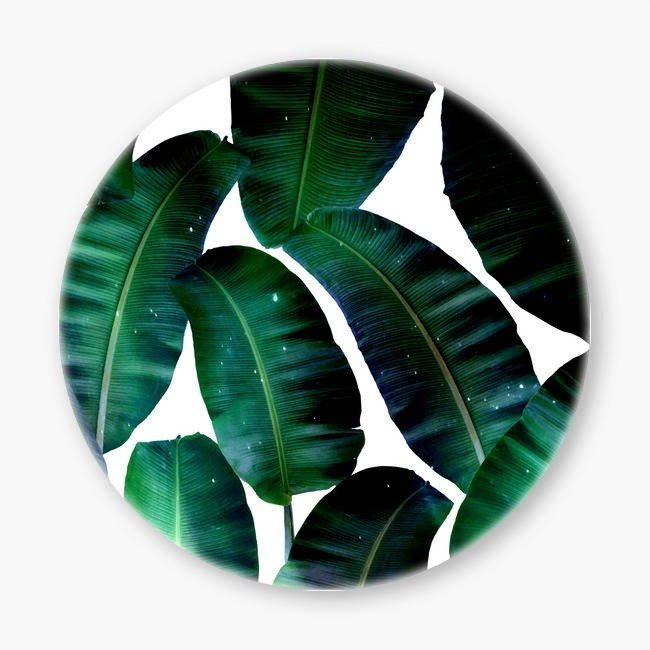 Snupped Ceramic Coaster - Cosmic Banana Leaves