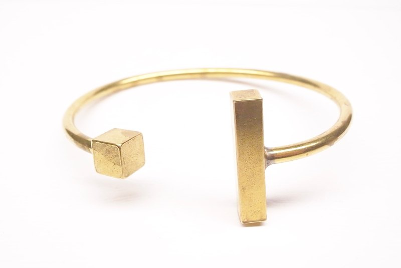 """Ermao Silver"" brass geometric pattern personalized bracelet (female section) Valentine's Day (for hand Wai XS ~ L No.)"