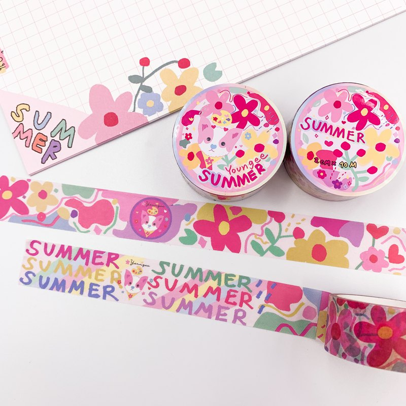 Summer Washi tape Masking tape paper tape by Youngee