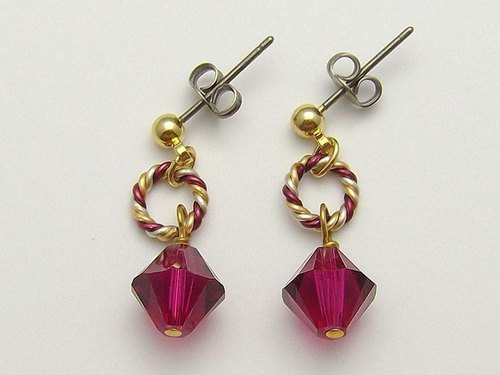 Swarovski Earrings / Earrings (Burgundy)