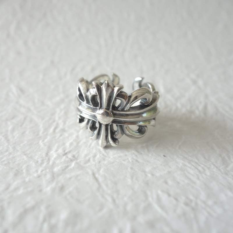 Sterling Silver - Cross Engraved Ring