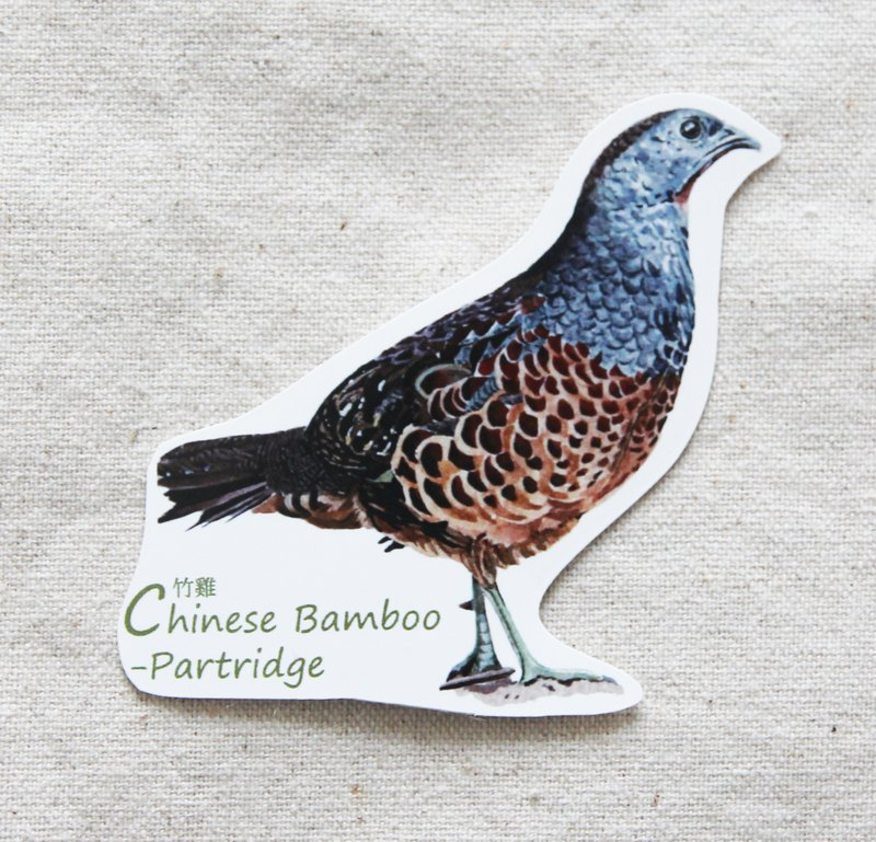 Gordon -NSJ painted bamboo chicken sticker