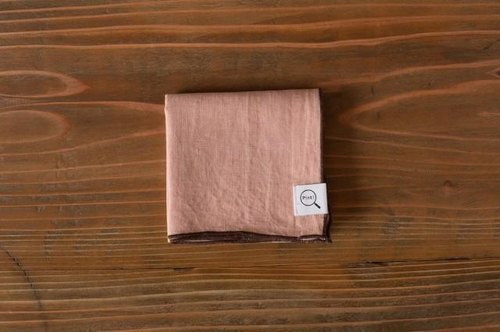 [Stock as long as SALE] plant dyeing organic linen handkerchief haze color (color haze)
